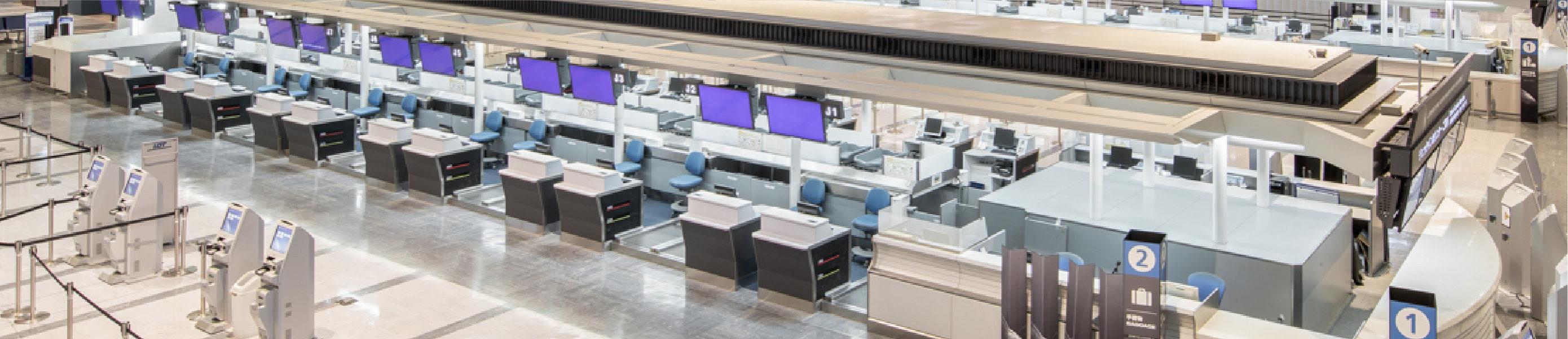 成田国際空港1PTBチェックインカウンター